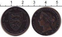 Изображение Монеты Остров Джерси 1/24 шиллинга 1877 Медь XF