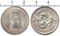Изображение Монеты Австралия 1 шиллинг 1963 Серебро UNC- Елизавета II. Баран