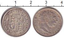 Изображение Монеты Великобритания 6 пенсов 1816 Серебро XF Георг III.