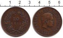 Изображение Монеты Португалия 20 рейс 1891 Медь VF
