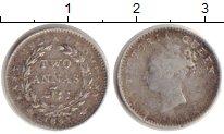 Изображение Монеты Британская Индия 2 анны 1841 Серебро VF