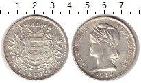Изображение Монеты Португалия 1 эскудо 1916 Серебро XF