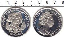Изображение Монеты Остров Мэн 1 крона 2011 Серебро Proof Елизавета  II.  Елиз