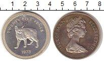 Изображение Монеты Остров Мэн 25 пенсов 1975 Серебро UNC Остров Мэн — коронно