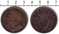 Изображение Монеты Ирландия 1/2 пенни 1822 Медь VF