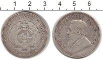 Изображение Монеты ЮАР 2 1/2 шиллинга 1892 Серебро VF Пауль Крюгер.