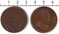 Изображение Монеты Остров Джерси 1/12 шиллинга 1909 Медь XF Эдуард VII.