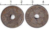 Изображение Монеты Бельгийское Конго 10 сантимов 1925 Медно-никель XF