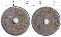 Изображение Монеты Бельгийское Конго 10 сантим 1911 Медно-никель XF