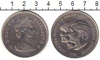 Изображение Монеты Великобритания 25 пенсов 1981 Медно-никель XF Елизавета II. Свадьб