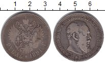 Изображение Монеты 1881 – 1894 Александр III 1 рубль 1891 Серебро  АГ
