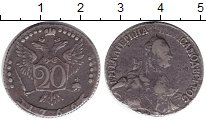Изображение Монеты 1762 – 1796 Екатерина II 20 копеек 1766 Серебро