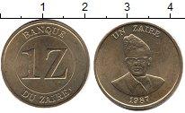 Изображение Монеты 1 заир 1987 Заир