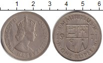 Изображение Монеты Маврикий 1 рупия 1971 Медно-никель XF Елизавета II