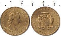 Изображение Мелочь Ямайка 1/2  пенни 1964 Латунь XF-