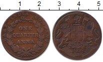 Изображение Монеты Индия 1/4 анны 1835 Медь XF