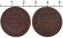 Изображение Монеты Индия 1/4 анны 1838 Медь XF