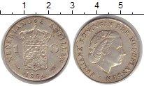 Изображение Монеты Антильские острова 1 гульден 1964 Серебро XF Юлиана