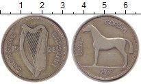 Изображение Монеты Ирландия 1/2 кроны 1928 Серебро VF