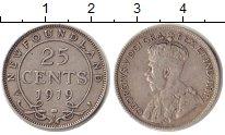 Изображение Монеты Ньюфаундленд 25 центов 1919 Серебро VF