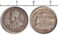 Изображение Монеты Австралия 3 пенса 1925 Серебро VF Георг V