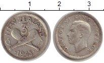 Изображение Монеты Новая Зеландия 3 пенса 1943 Серебро VF