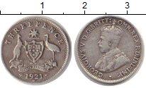 Изображение Монеты Австралия 3 пенса 1921 Серебро VF
