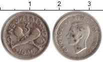 Изображение Монеты Новая Зеландия 3 пенса 1940 Серебро XF