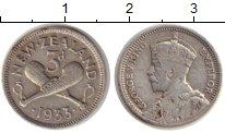Изображение Монеты Новая Зеландия 3 пенса 1933 Серебро XF