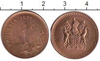 Изображение Монеты Великобритания Родезия 1 цент 1977 Медь XF