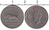 Изображение Монеты Индия 1/4 рупии 1947 Медно-никель VF