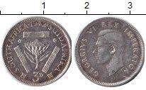 Изображение Монеты ЮАР 3 пенса 1942 Серебро VF