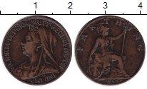 Изображение Монеты Великобритания 1 фартинг 1899 Медь XF