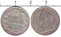 Изображение Монеты Великобритания 6 пенсов 1897 Серебро XF Виктория