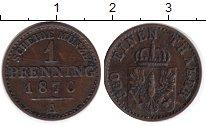 Изображение Монеты Германия Пруссия 1 пфенниг 1870 Медь XF