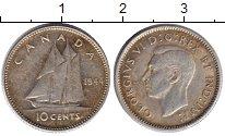 Изображение Монеты Канада 10 центов 1944 Серебро XF Георг VI