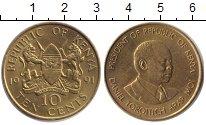 Изображение Монеты Кения 10 центов 1991 Латунь UNC