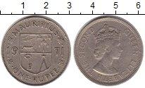 Изображение Монеты Маврикий 1 рупия 1971 Медно-никель VF Елизавета II