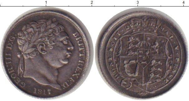 Картинка Монеты Великобритания 6 пенсов Серебро 1817