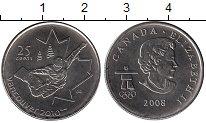 Изображение Мелочь Канада 25 центов 2008 Медно-никель UNC-