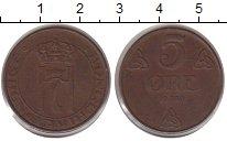 Изображение Монеты Норвегия 5 эре 1939 Бронза XF
