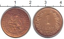 Изображение Монеты Нидерланды 1 цент 1878 Бронза XF-