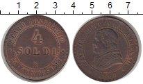 Изображение Монеты Ватикан 4 сольди 1868 Медь XF+