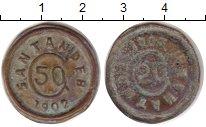 Изображение Монеты Колумбия 50 сентаво 1902 Медь VF Жетон повстанцев в п