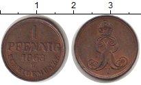 Изображение Монеты Ганновер 1 пфенниг 1868 Медь XF