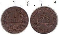 Изображение Монеты Немецкая Африка 1 геллер 1912 Медь XF J