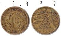 Изображение Монеты Веймарская республика 10 пфеннигов 1929 Медь XF