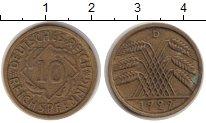Изображение Монеты Веймарская республика 10 пфеннигов 1929 Медь VF