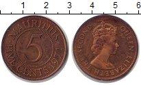 Изображение Монеты Маврикий 5 центов 1971 Бронза Proof-