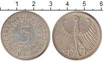 Изображение Монеты ФРГ 5 марок 1964 Медно-никель XF Федеративная Республ